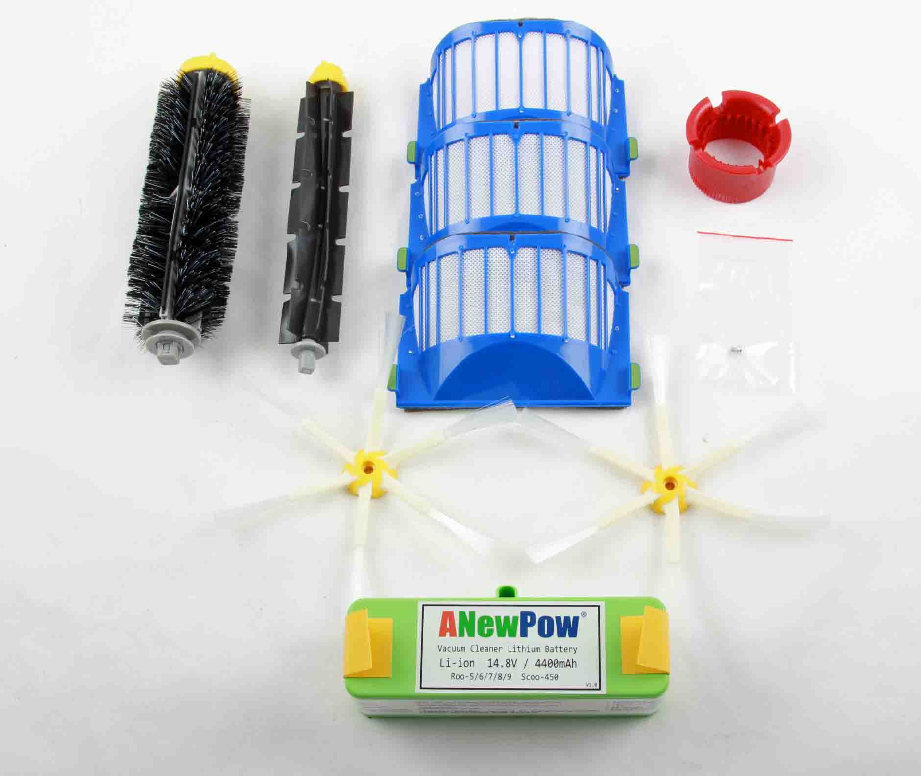 Roomba 600 Series Replenishment Kit Arm Brush 4400mAH Lithium Battery